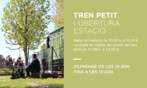tren petit i obertura estacio de fornells de la selva