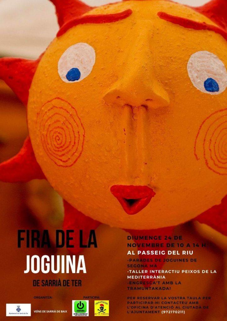 """La Fira de la Joguina de Sarrià de Ter engloba diferents activitats tals com el mercat de joguines de segona mà i el taller interactiu """"Peixos de la Mediterrània"""", entre d'altres."""