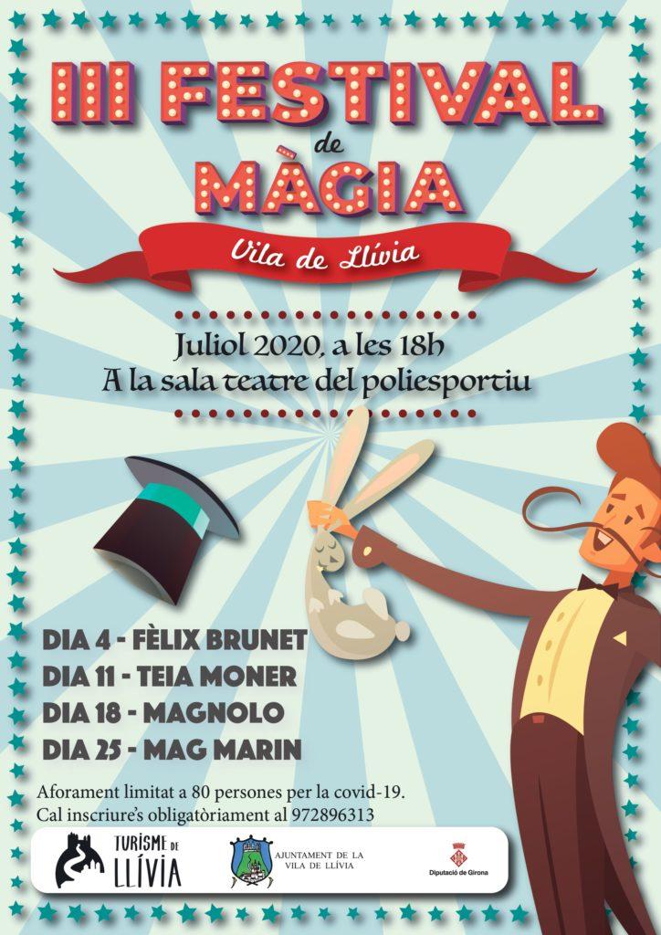 Llívia celebrarà al juliol el seu 3r Festival de Màgia. La iniciativa reunirà diverses companyies de màgia que faran les delícies per a petits i grans.