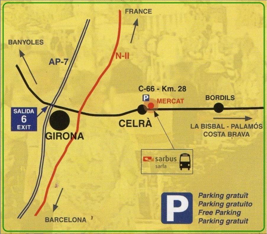 ubicació del mercat de celrà